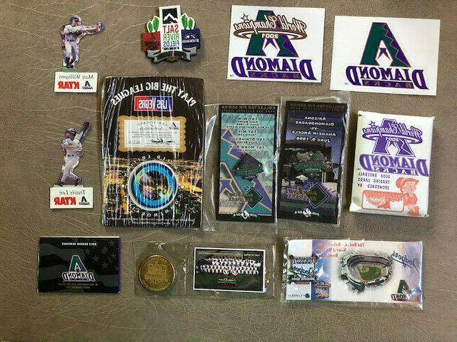 arizona diamondbacks collectibles box pins cards poker
