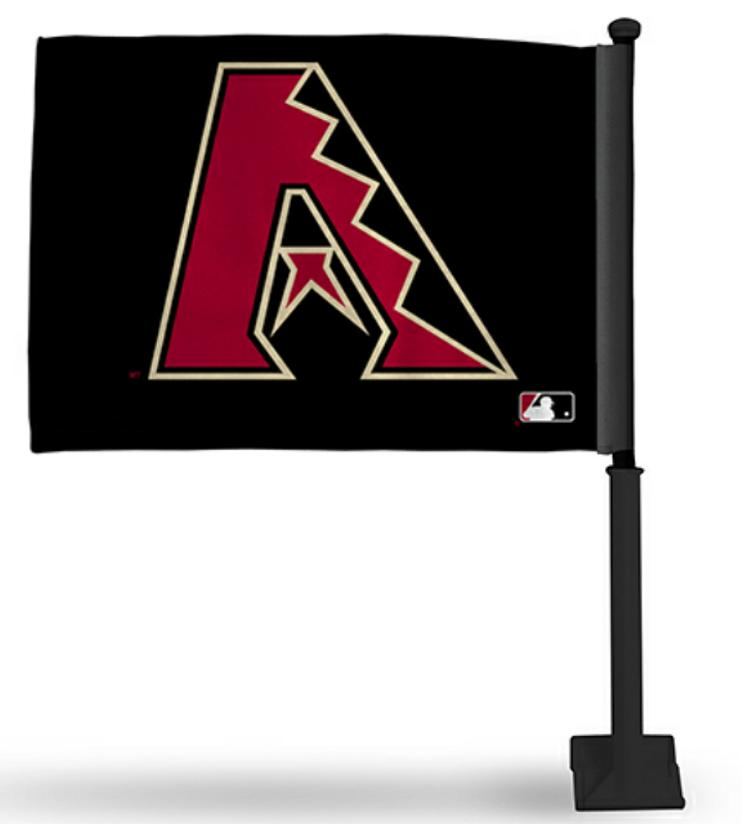 arizona diamondbacks mlb black car flag black