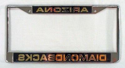 Arizona Diamondbacks MLB Laser Chrome License Plate Frame