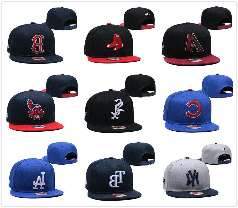 embroidered baseball cap snapback adjustable mlb team