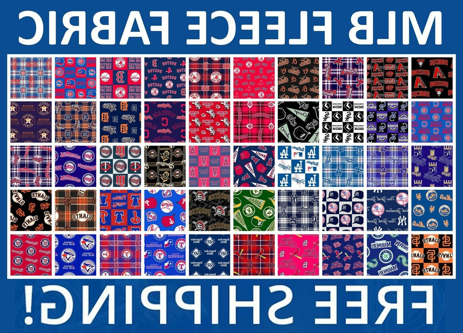 mlb fleece fabric all teams sports collection