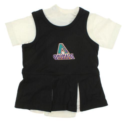 mlb infant arizona diamondbacks retro cheer dress