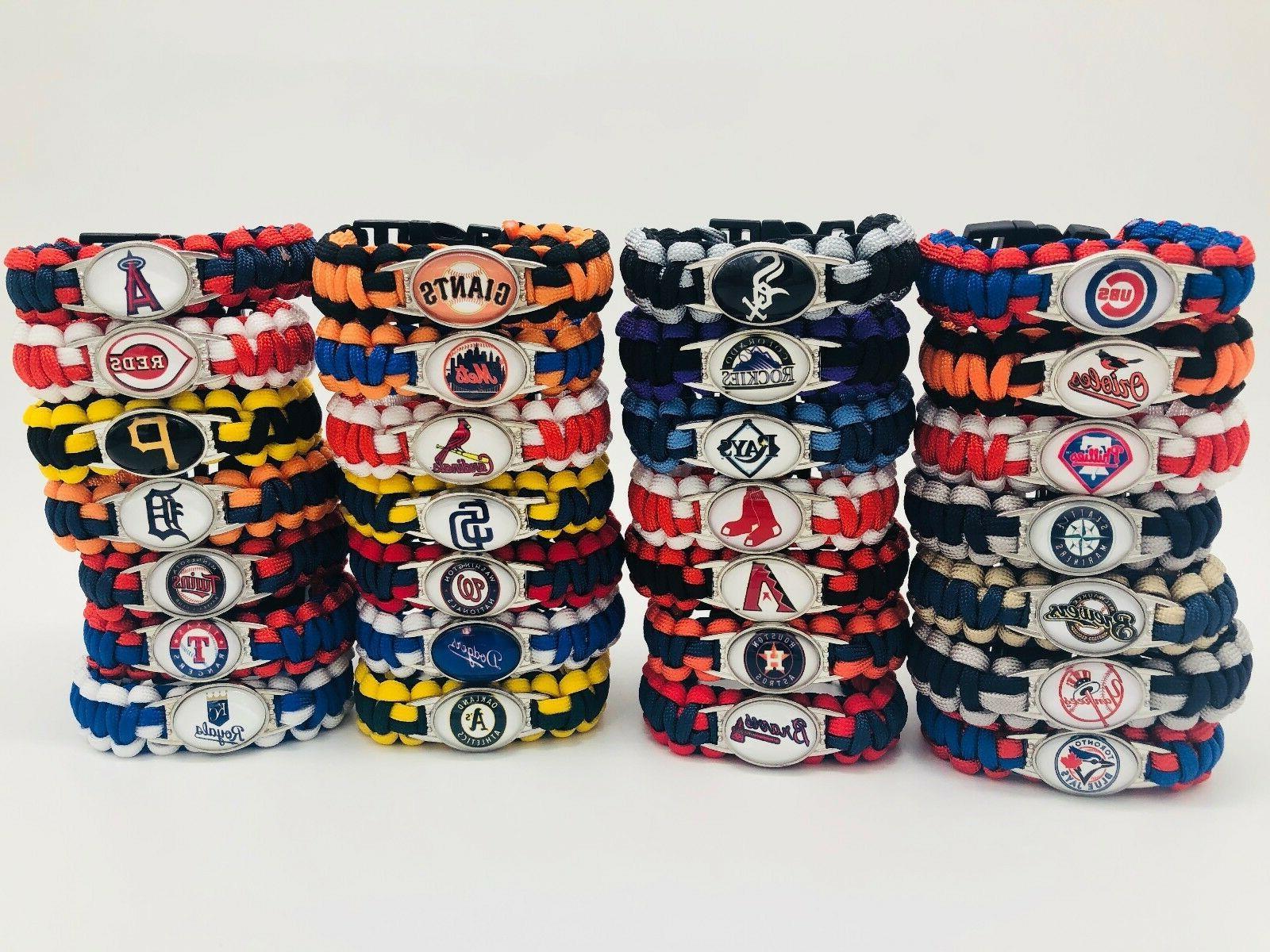 mlb lanyard colors baseball paracord bracelet wrap