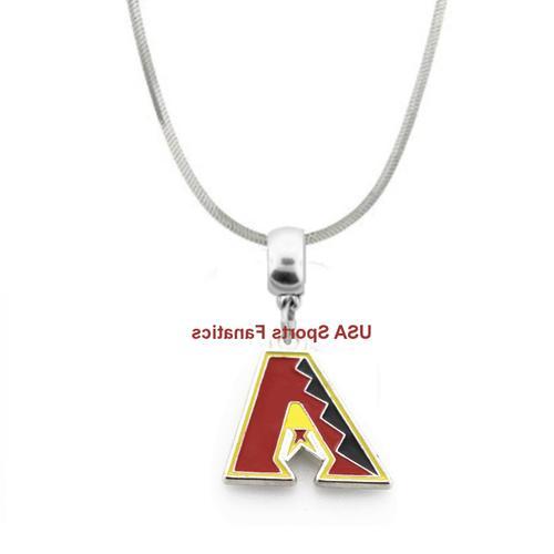 mlb team logo pendant necklace on a