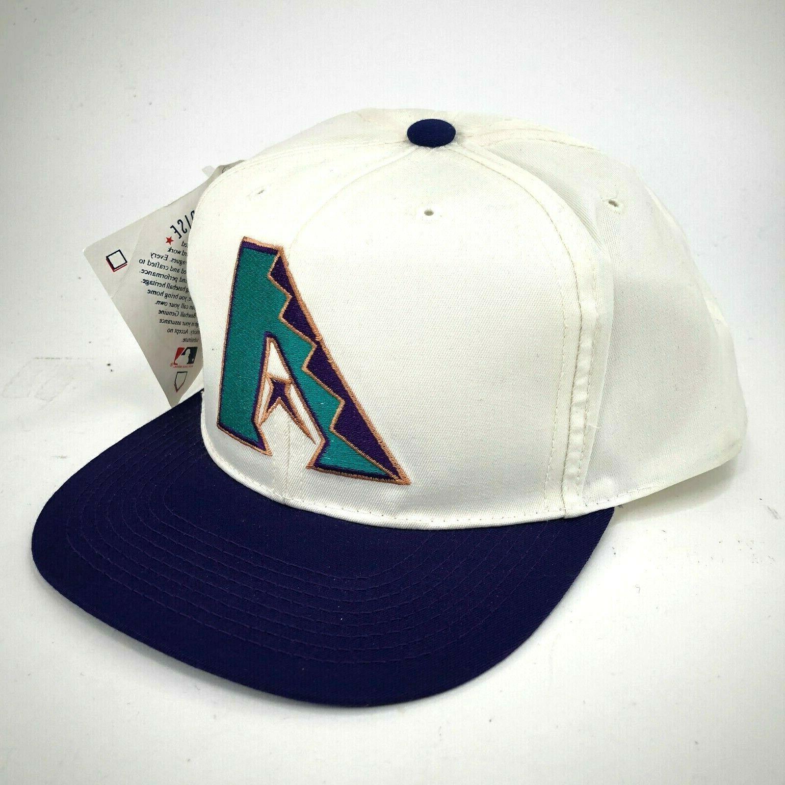 vintage arizona diamondbacks youth snapback hat white