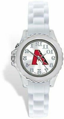 Youth MLB Arizona Diamondbacks Flash White Strap Watch