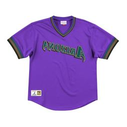 Mitchell & Ness Purple MLB Arizona Diamondbacks Mesh V-Neck