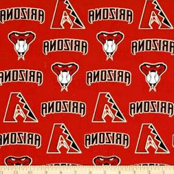 MLB Arizona Diamondbacks 100% Cotton Broadcloth Fabric by th