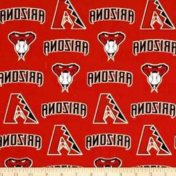 MLB Arizona Diamondbacks 100% Cotton Broadcloth Fabric by th