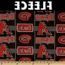 MLB Arizona Diamondbacks 6545-B Fleece Fabric by the Yard