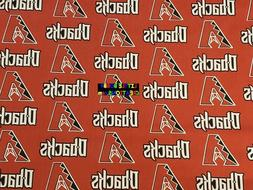 MLB ARIZONA DIAMONDBACKS Cotton Fabric - 1/4 to 1/2 YARD