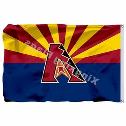 Mlb Arizona Diamondbacks Flag 3Ft X 5Ft Polyester Mlb Flag B
