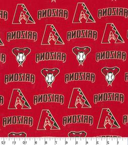 MLB ARIZONA DIAMONDBACKS LOGO COTTON FABRIC MATERIAL LARGE 1