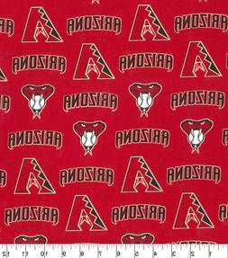 MLB ARIZONA DIAMONDBACKS LOGO COTTON FABRIC MATERIAL LARGE 1