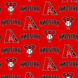 MLB Baseball Arizona Diamondbacks Serpent Red 18x29 Cotton F