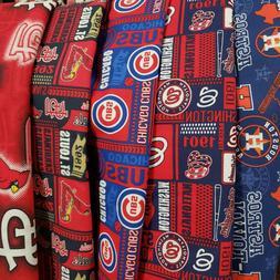 MLB Baseball Cotton Fabric by the 1/4 Quarter Yard - PICK TE