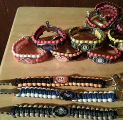 MLB Baseball Paracord Bracelet Survival Wristband MilitarySp