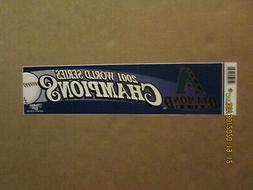 MLB Diamondbacks Vintage 2001 World Champions Team Logo Base