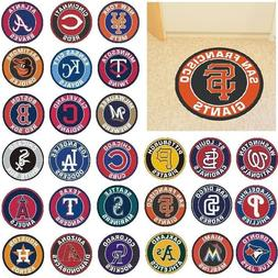 "MLB Teams - 27"" Roundel Area Rug Floor Mat - Choose Your Tea"