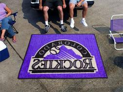 "MLB - Colorado Rockies Tailgater Rug 60""x72"""