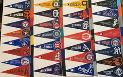 "NEW MLB Baseball Teams Mini Pennants Pick Your Team 4""x9"" 30"