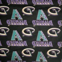 Retro Arizona Diamondbacks Cotton Fabric By the Yard MLB Bas