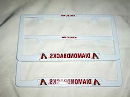 TWO  ARIZONA DIAMONDBACKS EMBOSSED LICENSE PLATE FRAMES #3 -