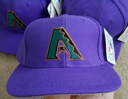 Vintage 90s Arizona Diamondbacks Purple Snapback Hat NWT Twi